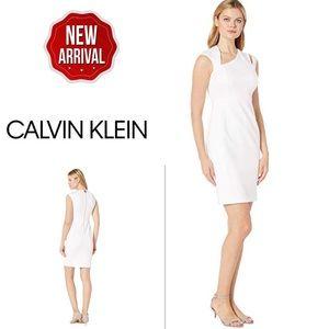 Calvin Klein Asymmetric Dress Shoulder CutOut Sz10